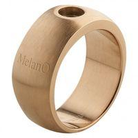 MelanO Magnetic Ring Gr. 55, Edelstahl vergoldet, 10 mm, matt