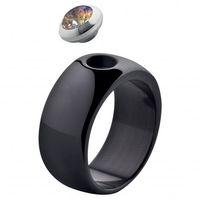 MelanO Magnetic Ring Gr. 56, Ceramik, schwarz, 10 mm, glänzend