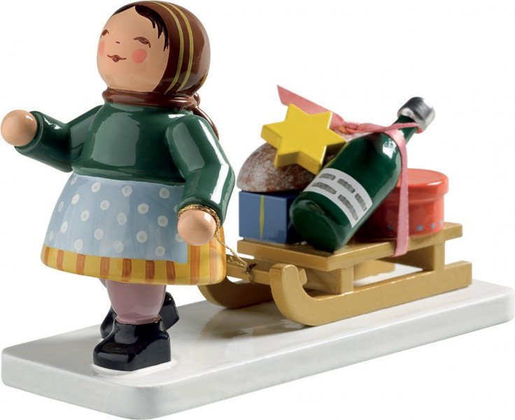 Mädchen mit Schlitten 6224/10 von Wendt & Kühn