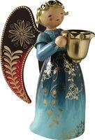 Engel reich bemalt, groß, mit Lichtnapf, blau 553/Rblau von Wendt & Kühn