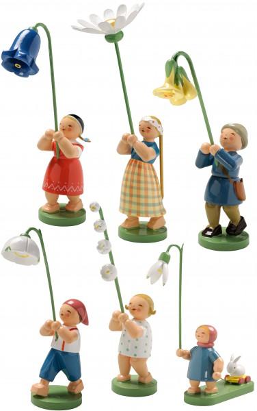 Blumenkinder Frühling, 6 Figuren 5248/F von Wendt & Kühn