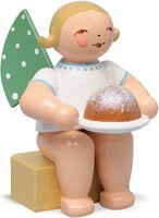 Engel, klein, mit Kuchen 650/k/154a von Wendt & Kühn