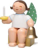 Engel, klein, mit Glocke und Licht 650/k/53a von Wendt & Kühn