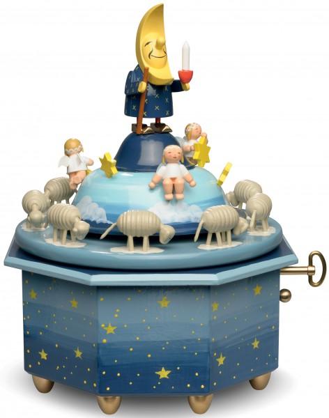 Spieldose Mondvater mit Engeln 5336/43A von Wendt und Kühn