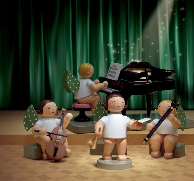 Set 2 Engelmusikanten  - 4 Figuren von Wendt & Kühn