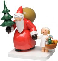Weihnachtsmann mit Baum und Engel 5301/7 von Wendt & Kühn