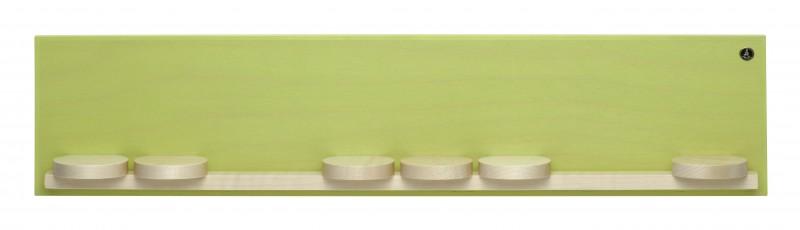 Wandpräsentation mit 7 Schiebetellern, klein, grün von Wendt und Kühn