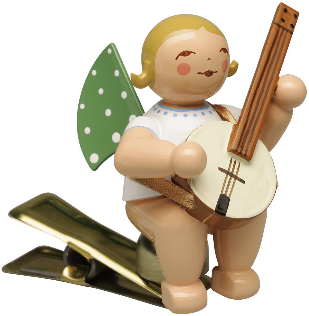 Engel mit Banjo, auf Klemme 650/90/59 von Wendt & Kühn