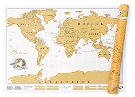 Scratch Map Original Rubbel-Weltkarte von LUCKIES OF LONDON