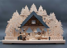 3D-Schwibbogen klein, Kunsthandwerkerhaus von Ratags