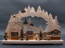 3D-Schwibbogen klein, Seiffener Weihnachtsmarkt von Ratags