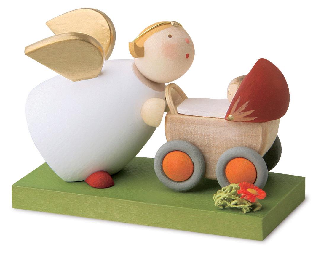 Schutzengel mit Puppenwagen von Günter Reichel