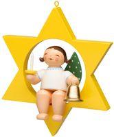 Engel mit Glocke und Kerze, im Stern, klein 650/80/53 von Wendt & Kühn