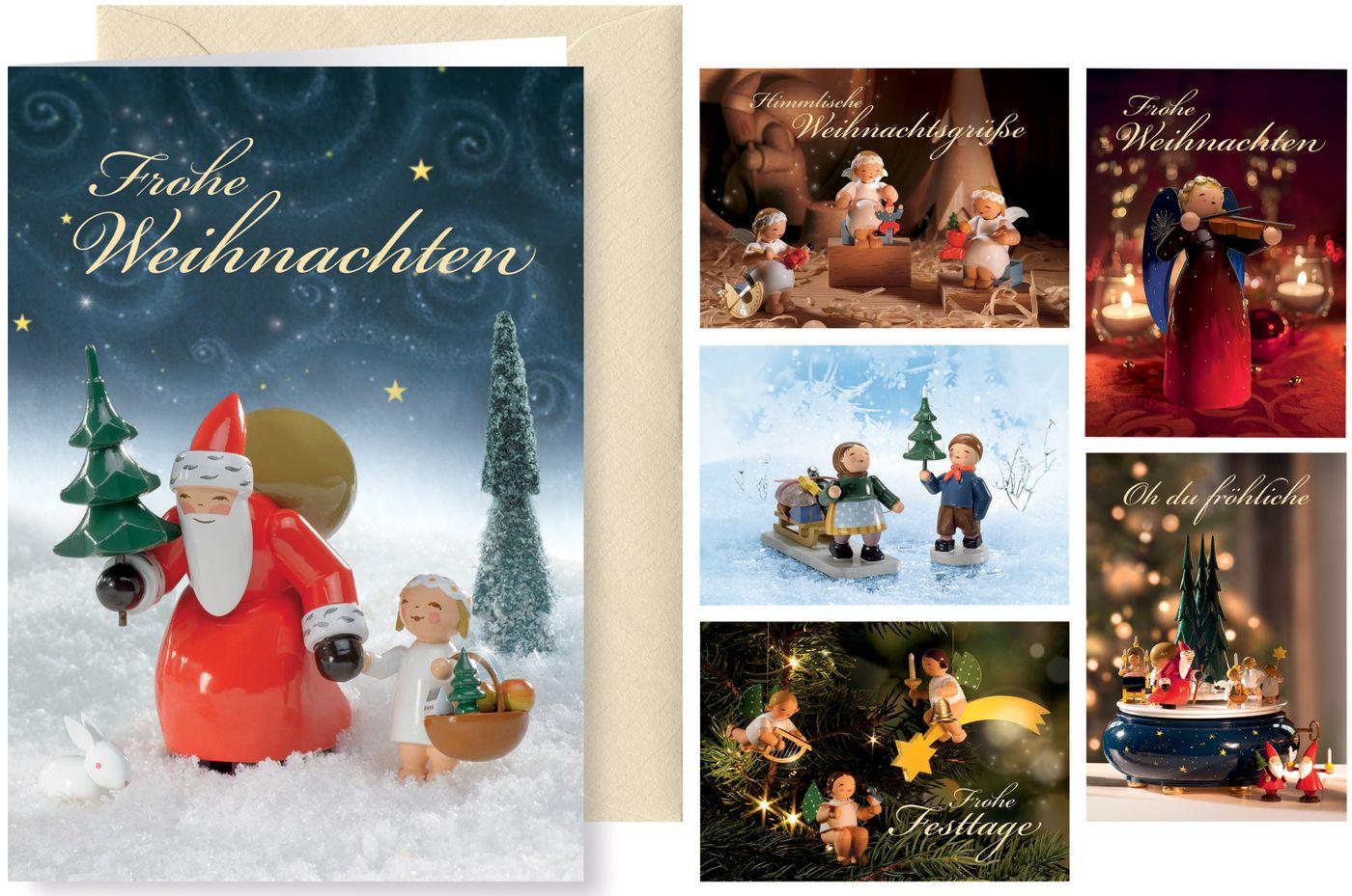 Grußkartenserie Weihnachtsgrüße, 6 Motive von Wendt und Kühn
