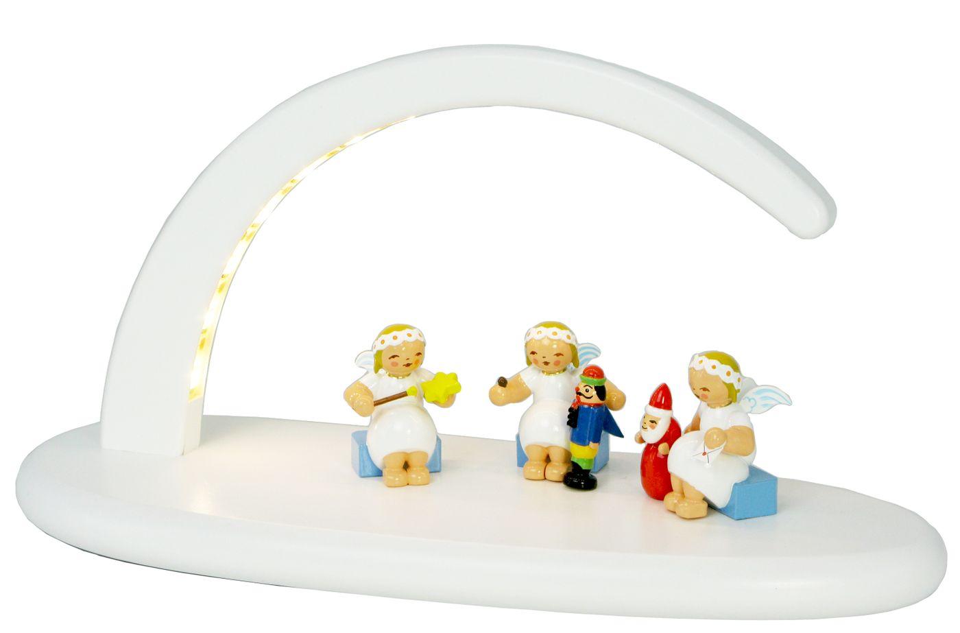 Set9 bestückter Leuchterbogen weiß, LED Beleuchtung