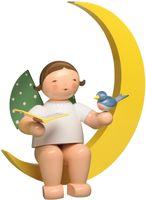 Engel mit Liederbuch und Vogel im Mond, groß 771/12 NEU 2020 von Wendt & Kühn