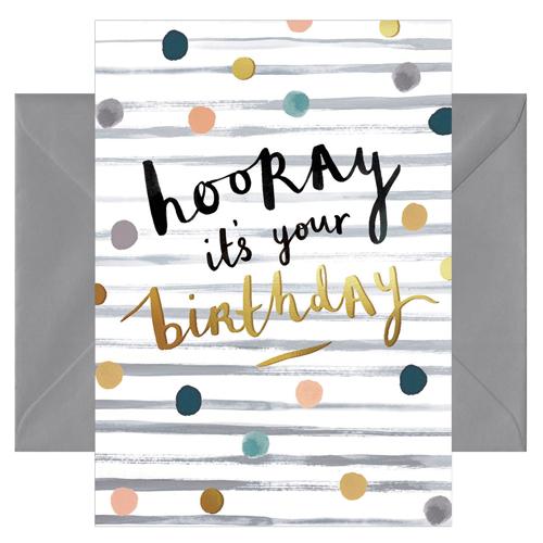Grußkarte Hooray it's your Birthday von chicmic