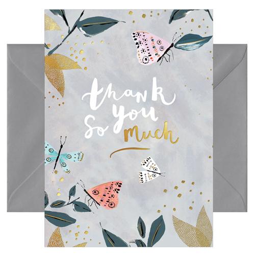 Grußkarte Thank you so much von chicmic