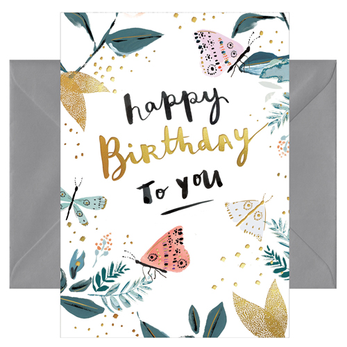 Grußkarte Happy Birthday to you von chicmic