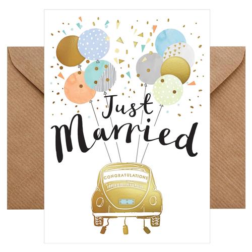 Grußkarte Just married / Congratulations von chicmic