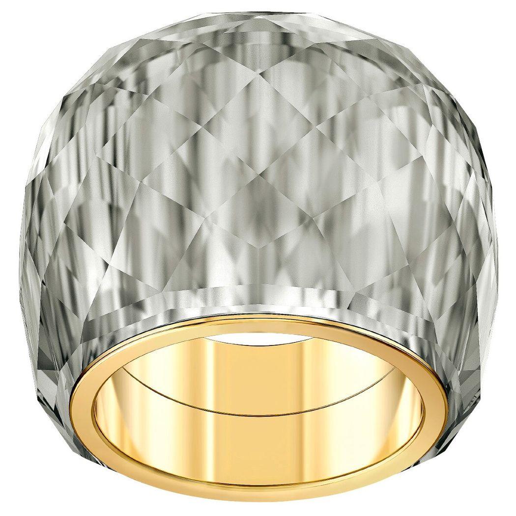 Swarovski Nirvana Ring, grau, Vergoldetes PVD-Finish Gr. 58