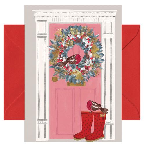 Weihnachtskarte Türkranz Weihnachten von chicmic