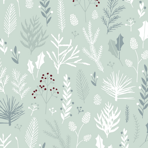 Bamboo Napkin - Serviette Winter plants von chicmic
