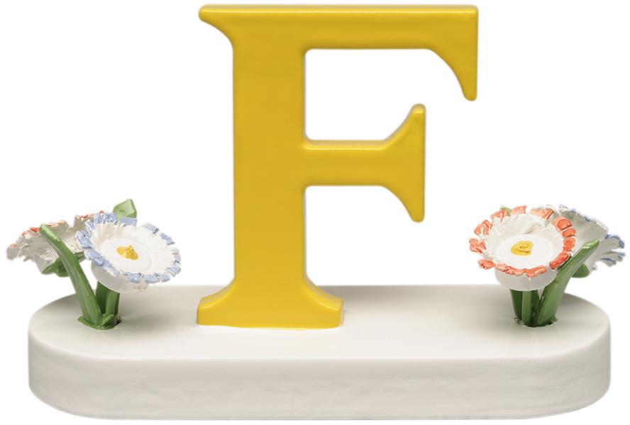 Buchstabe F, mit Blumen 634/23/F NEU 2021 von Wendt & Kühn