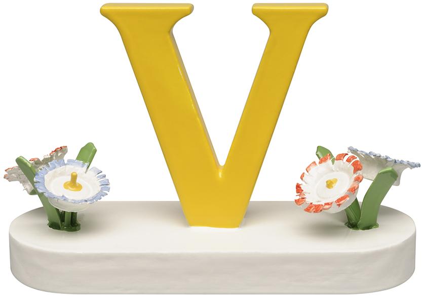 Buchstabe V, mit Blumen 634/23/V NEU 2021 von Wendt & Kühn