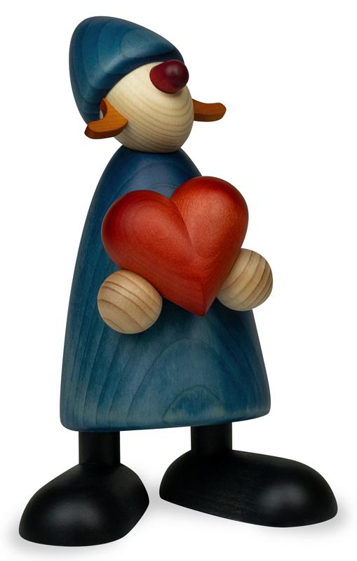 Gratulantin Thea mit Herz, groß, blau von Björn Köhler