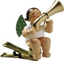 Engel mit Basstrompete, auf Klemme 650/90/28 von Wendt & Kühn
