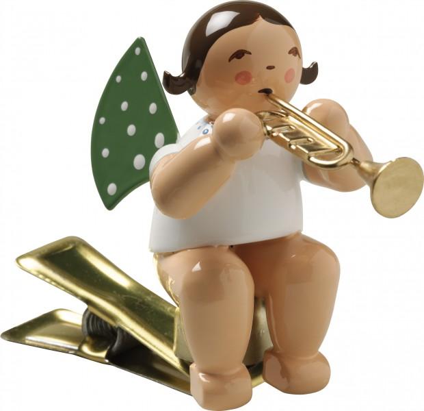 Engel mit Trompete, auf Klemme 650/90/36 Wendt & Kühn