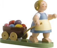 Ostermädchen mit Wagen 5240/7 von Wendt & Kühn