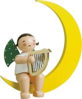 Engel mit Harfe im Mond, groß 771/14b von Wendt & Kühn
