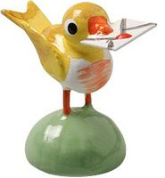 Vogel mit Brief, gelb 5263/N gelb von Wendt & Kühn