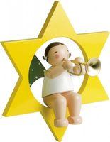 Engel mit Trompete im Stern, groß 772/36 von Wendt & Kühn