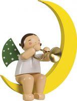 Engel mit Trompete im Mond, groß 771/36 von Wendt & Kühn