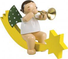 Engel mit Trompete auf Schweif, groß 773/36 von Wendt & Kühn
