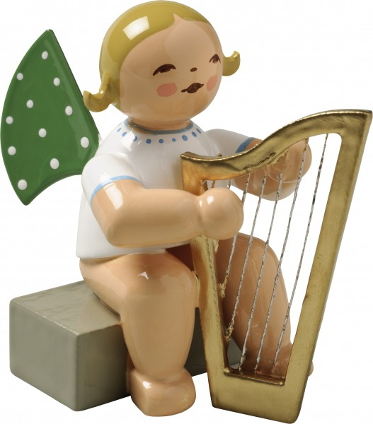 Engel mit Harfe, sitzend 650/14a von Wendt & Kühn