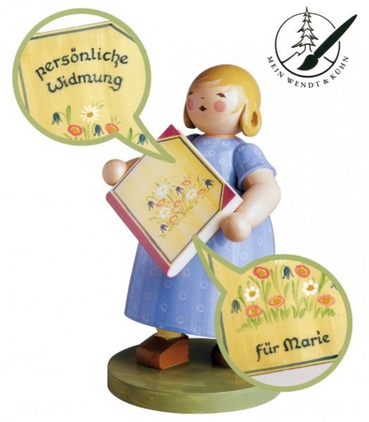 Mädchen mit Malbuch mit Widmung von Wendt & Kühn