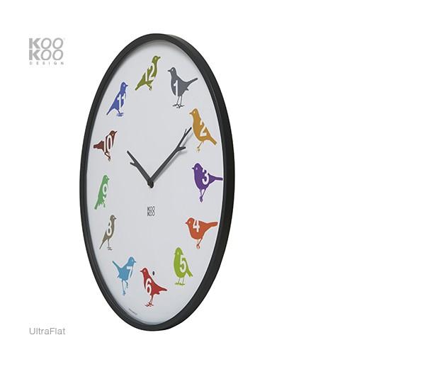 kookoo ultraflat color vogeluhr vogelstimmenuhr heimische singv gel kookoo vogeluhr vogeluhr. Black Bedroom Furniture Sets. Home Design Ideas