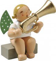Engel mit Basstrompete, sitzend 650/28a von Wendt & Kühn