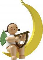 Engel mit Harfe, im Mond 650/70/14b von Wendt & Kühn
