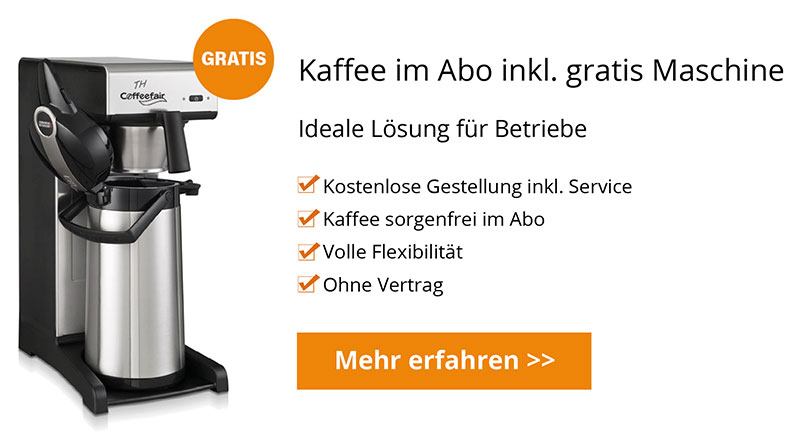 Kaffeeabo inkl Filterkaffeemaschine