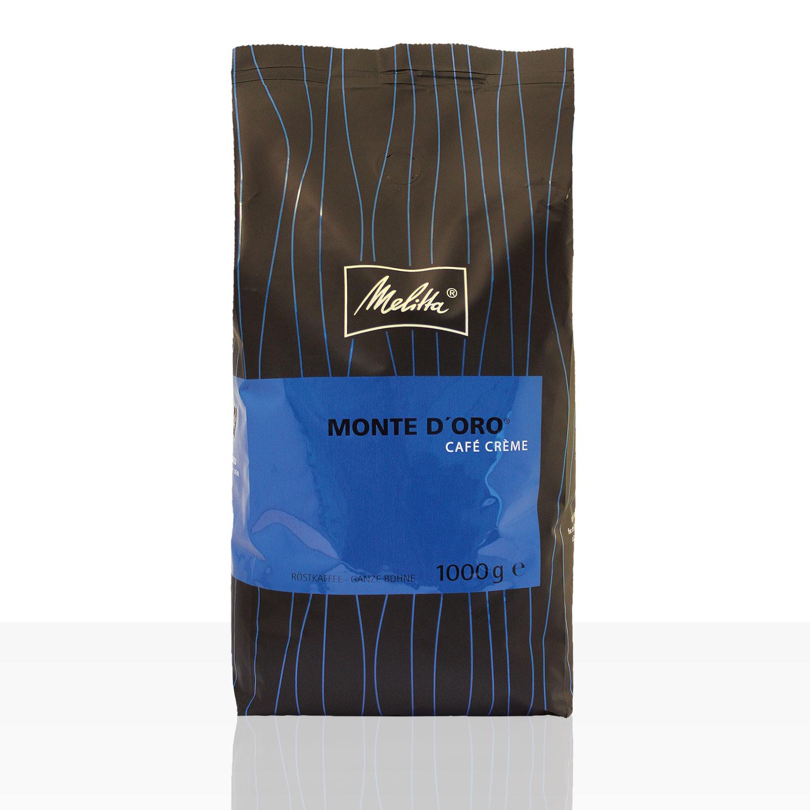 Melitta Monte D'Oro würzig Cafe Creme - 1kg ganze Kaffee-Bohne