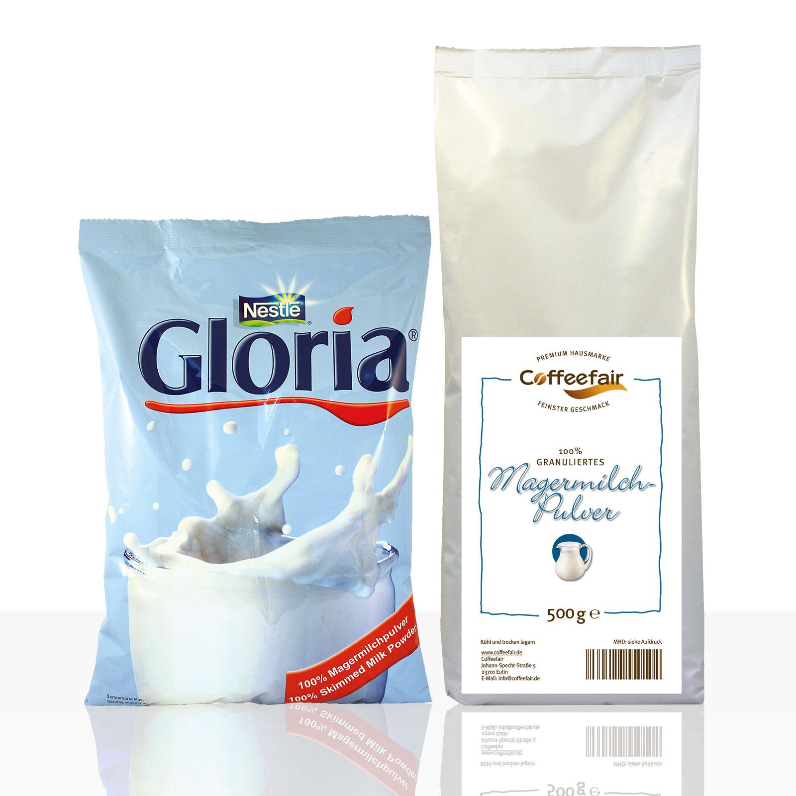 Nestle Gloria Magermilchpulver 10 x 500g + Coffeefair Magermilchpulver 10 x 500g