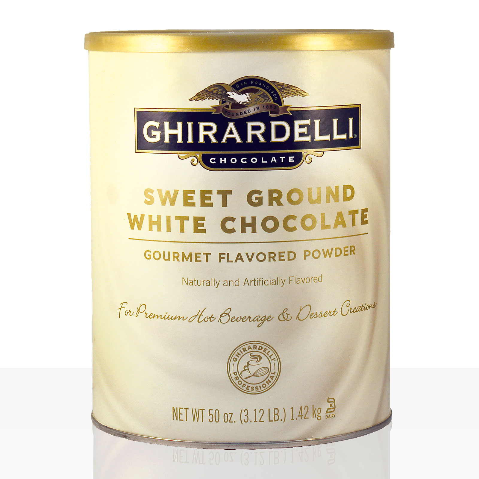 Ghirardelli Sweet Ground Chocolate White 1,42kg, weiße Instantschokolade