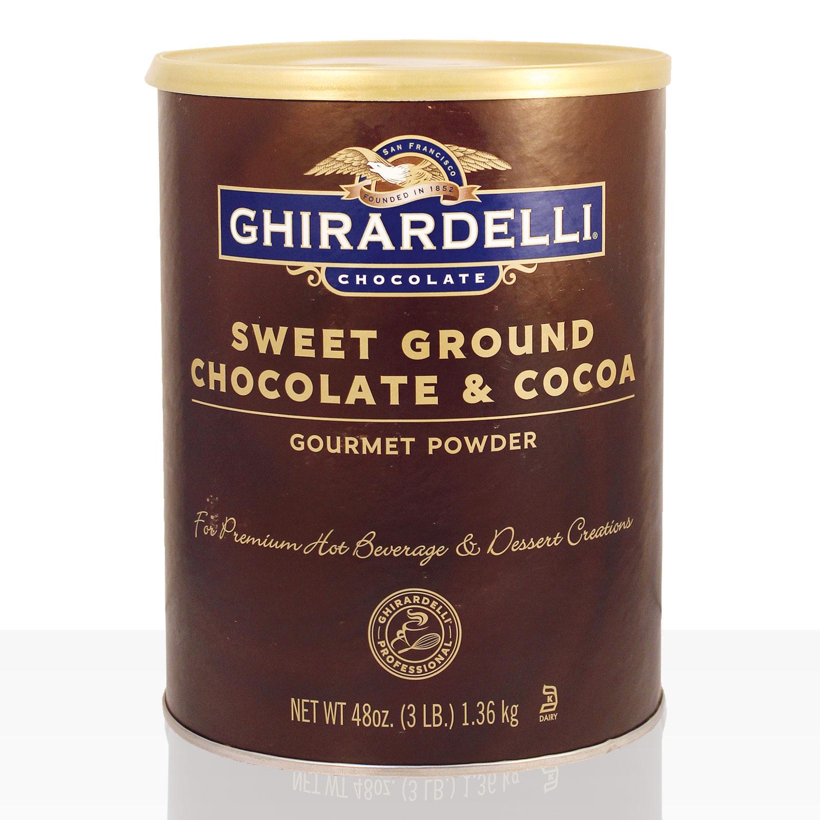 Ghirardelli Sweet Ground Chocolate Brown 1,3kg, Instant-Kakao