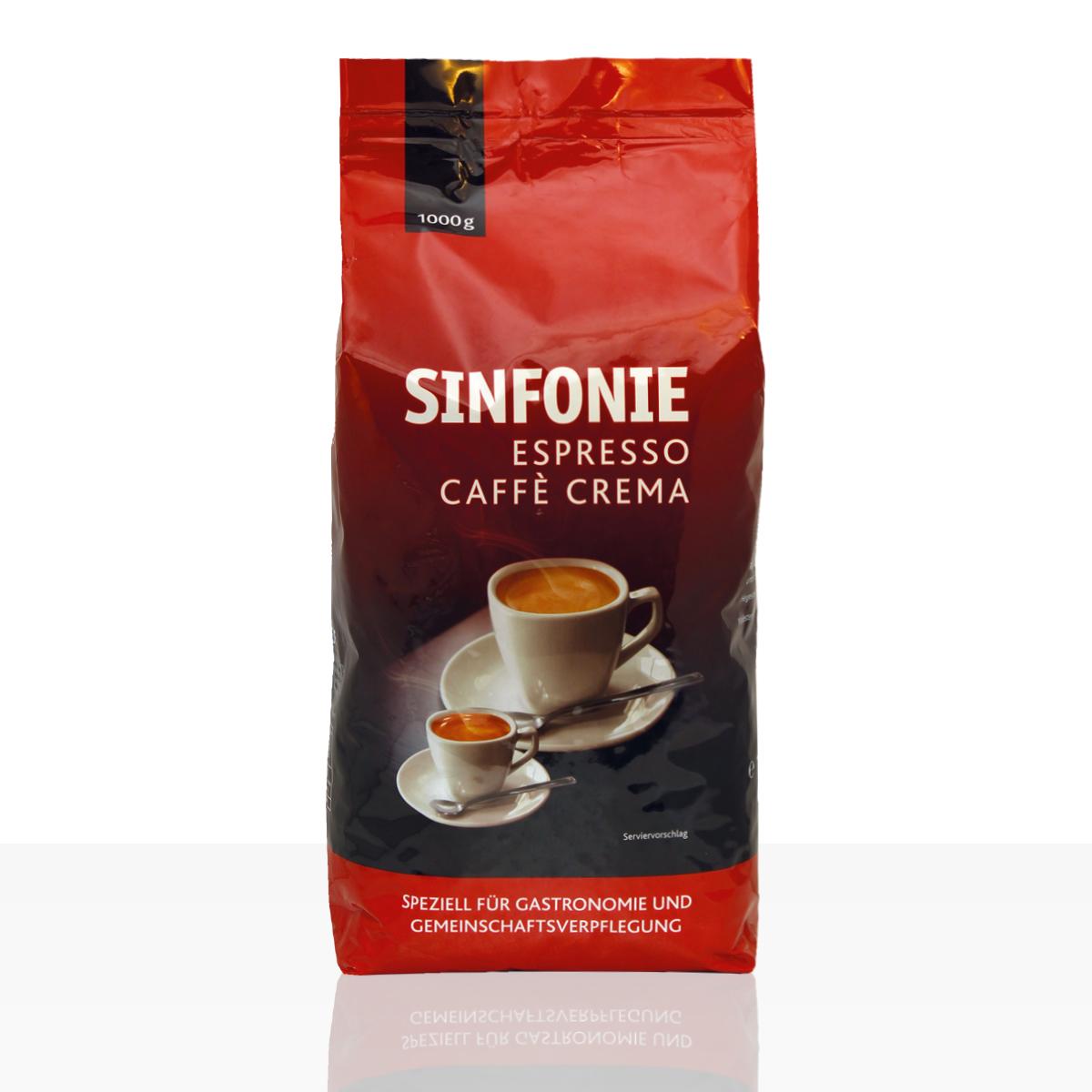 Jacobs Sinfonie Caffe Crema & Espresso Hybridbohne - 1kg ganze Kaffee-Bohne