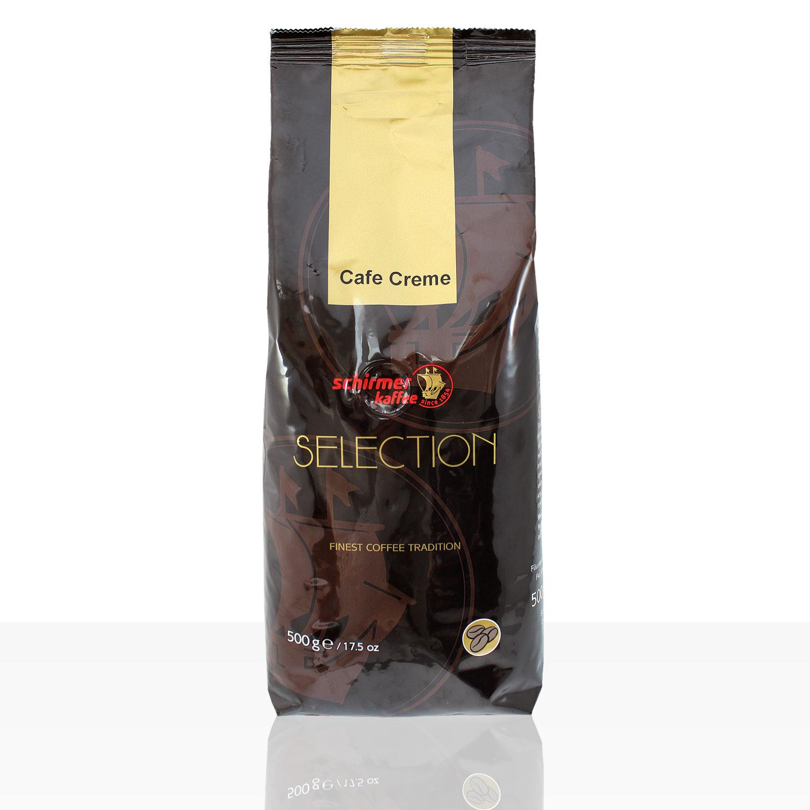 Schirmer Selection Cafe Creme - 500g ganze Kaffee-Bohne